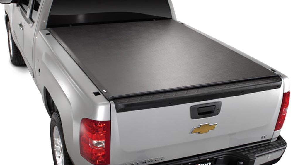 Tonneau Cover on Silver Chevrolet Truck